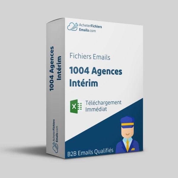 Acheter fichiers emails agences intérim